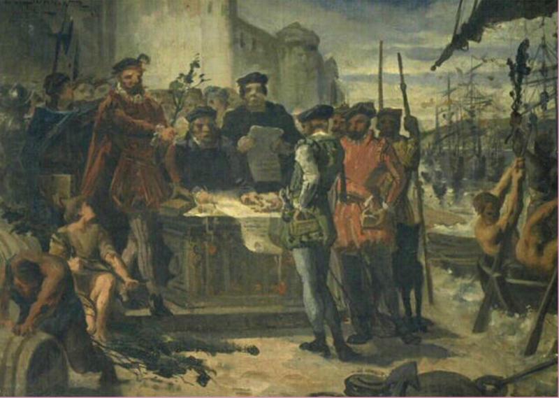 Paiement du tribut du Cypressat - Edmond Louis Dupain - 1847
