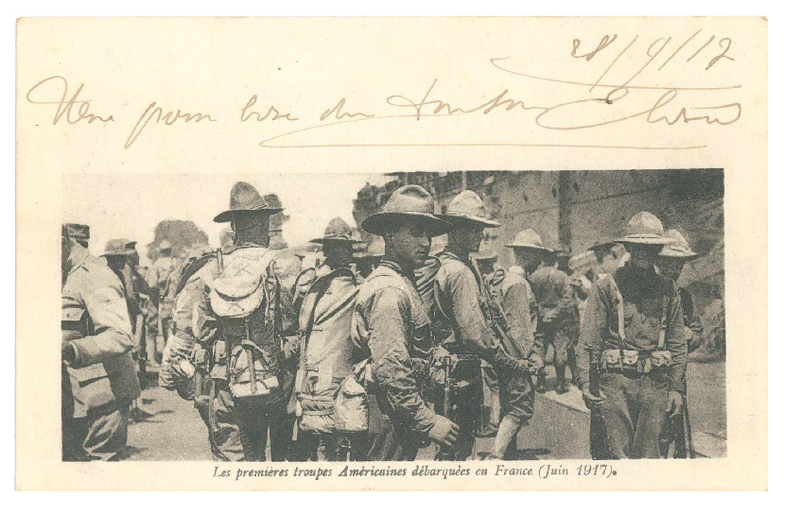 Les premires troupes amricaines dbarques en France juin 1917