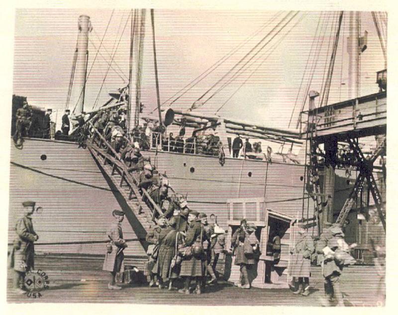 1919 - embarquement des troupes amricaines