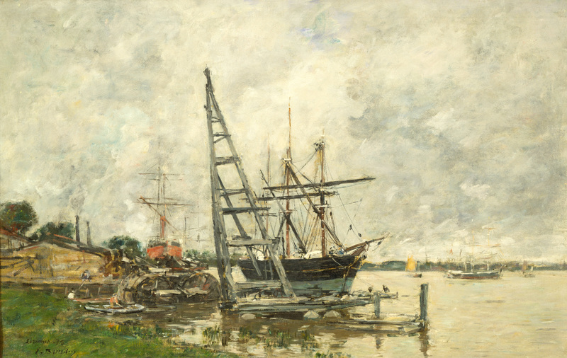 Havre à Lormont, Eugène Boudin, 1875 (Wikimedia Commons)