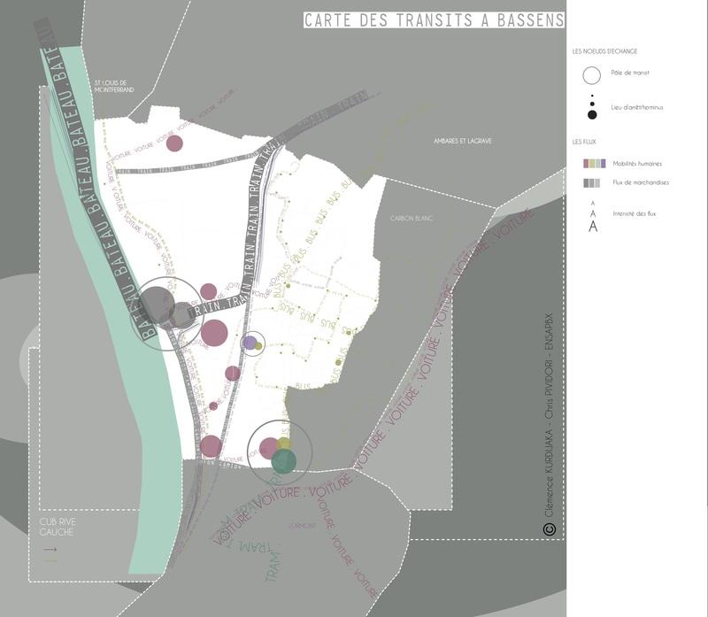 Carte des Transits  Bassens